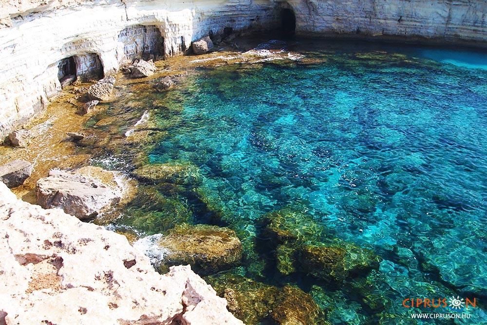 Agia Napa tengeri barlangjai Cipruson