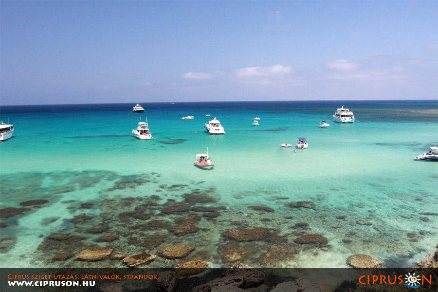 Akamas félsziget Kék-lagúna, Ciprus
