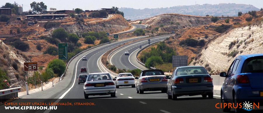 Ciprus vezetés, autópálya, közlekedés a szigeten