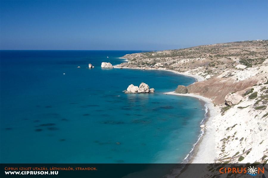 Ciprus legszebb strandjai, Afrodité sziklái (Petra Tou Romiou)