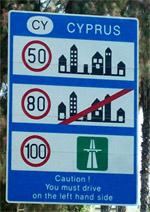 Sebességek, sebességhatárok Cipruson