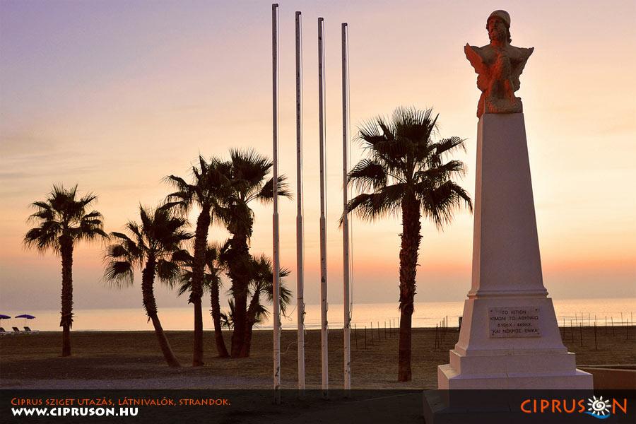 Larnaka város, Ciprus. Larnaka utazás, nyaralás, strandok, látnivalók