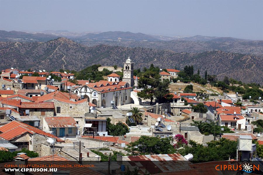 Lefkara falu, Troodos Ciprus