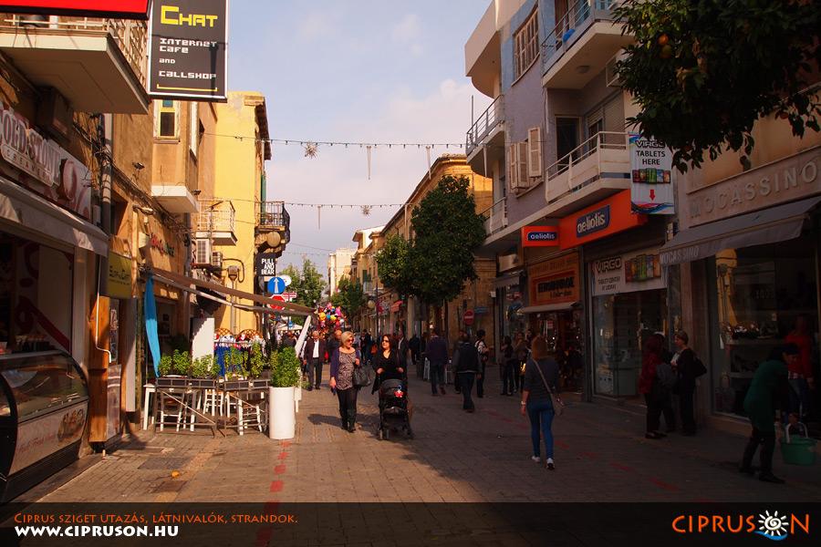 Nicosia, Ciprus fővárosa Ledra utca