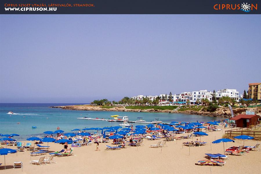 Protaras nyaralás, utazás, Ciprus. Protaras tengerpart.