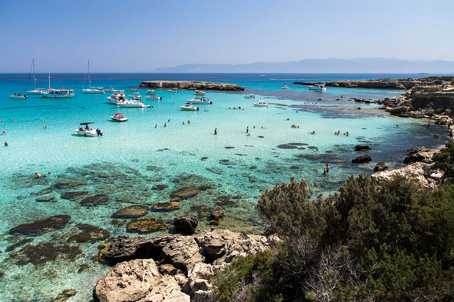 Akamas kék lagúna, Ciprus