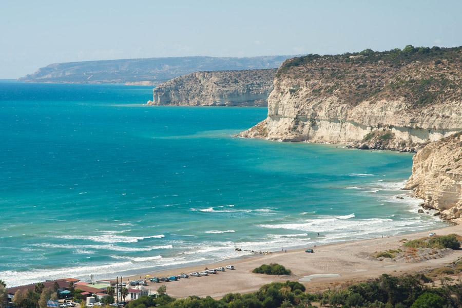 Kourion strand, Limassol Ciprus