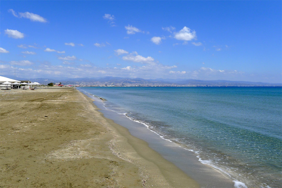 Lady's Mile beach, Limassol közelében, Ciprus