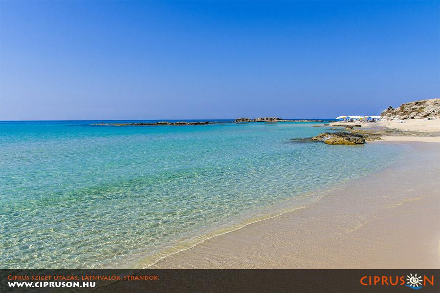 Ciprus legjobb strandjai, Kék Zászlós tiszta strandok Cipruson