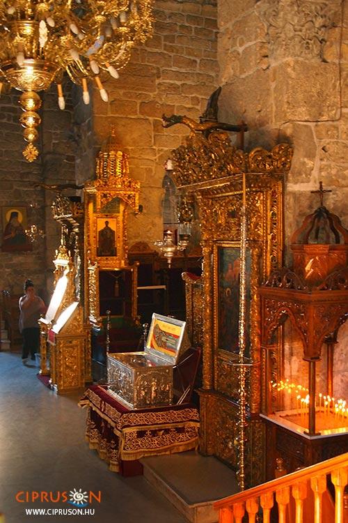 Agios Lazaros templom beltér Larnakában