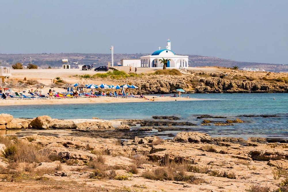 Agia Napa strandja, Agia Thekla beach, Poseidon beach