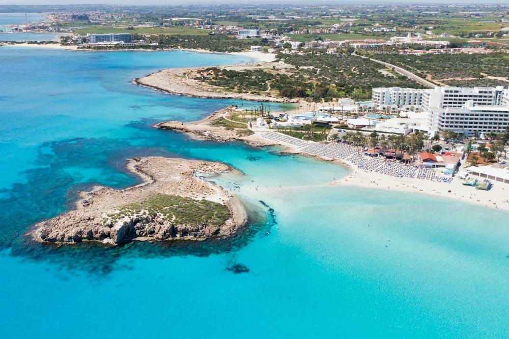 Ciprus legszebb strandjai Nissi beach