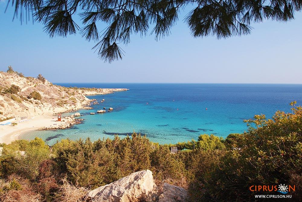Konnos beach. Protaras és Agia Napa között
