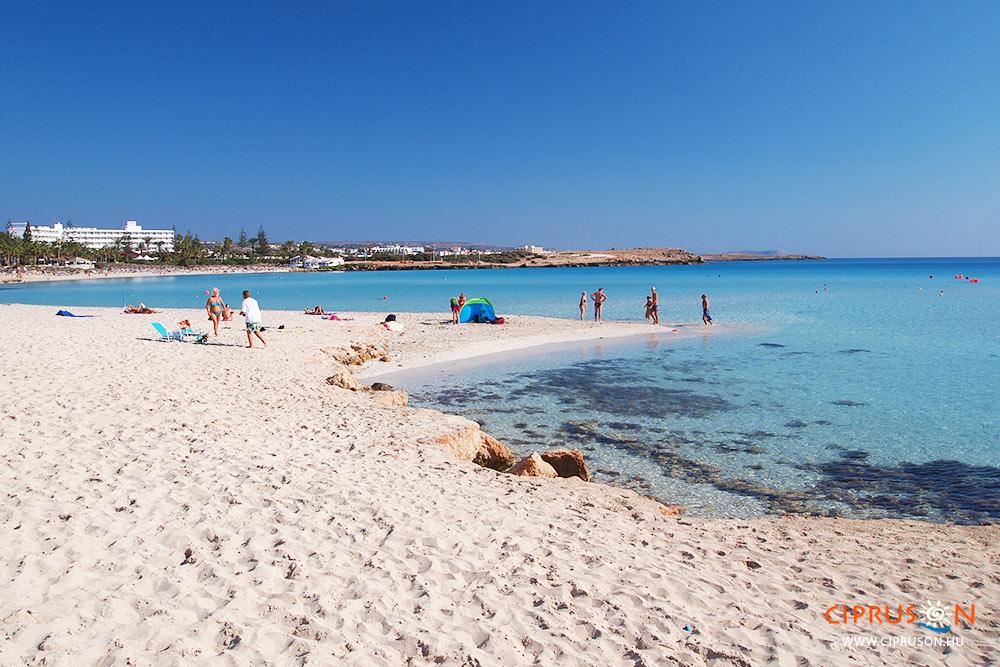 Nissi beach Cipruson, Agia Napa
