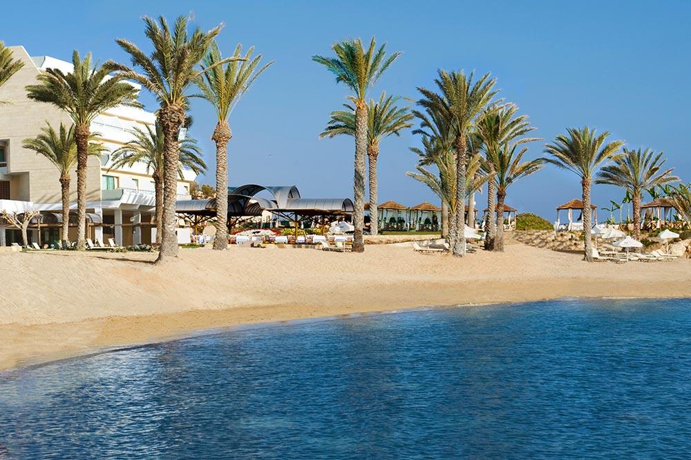 Páfosz (Paphos) strandja, tengerpartja